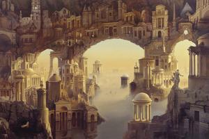 Architectural Fantasy by Carl Laubin