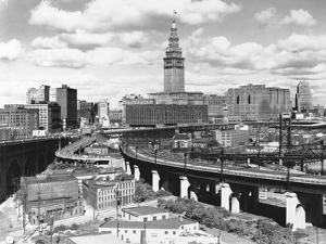 Skyline of Cleveland by Carl McDow