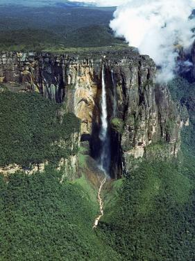 Aerial of Angel Falls by Carl Mydans