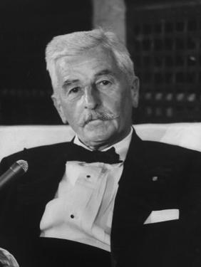 American Author William Faulkner by Carl Mydans