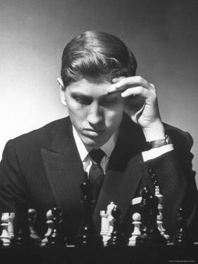 American Chess Champion Robert J. Fisher Playing a Match by Carl Mydans