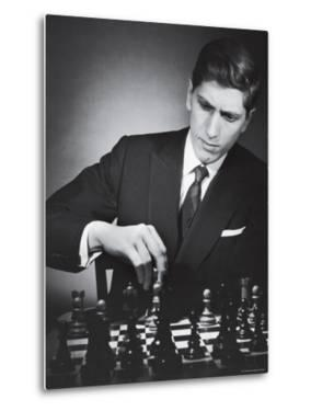 American Chess Champion Robert J. Fisher Playing a Match by Carl Mydans