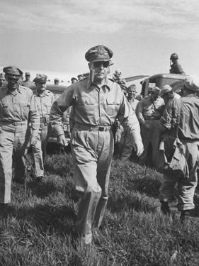Gen. Douglas MacArthur Arriving with American Occupation Forces by Carl Mydans
