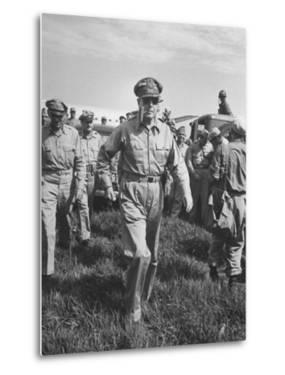 Gen. Douglas MacArthur Arriving with American Occupation Forces by Carl Mydans