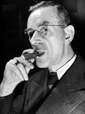 German-Born Us Writer Thomas Mann by Carl Mydans