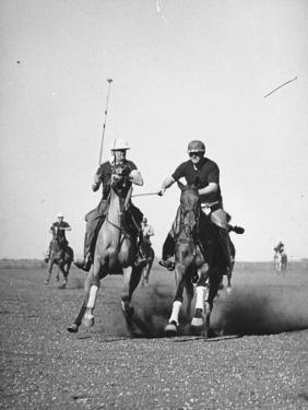 Men Playing Polo by Carl Mydans