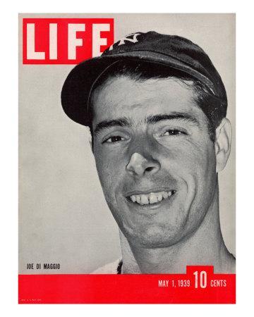 NY Yankee slugger Joe DiMaggio, May 1, 1939