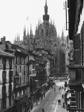 View of the Landscape of Milan with the Cathedral Dominating the Background by Carl Mydans