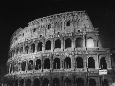 View of the Ruins of the Colosseum in the City of Rome