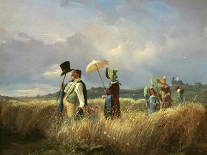 Der Sonntagsspaziergang (The Sunday Walk), 1841 by Carl Spitzweg