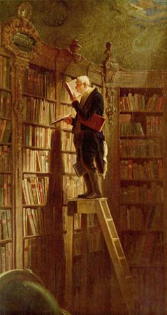 Carl Spitzweg (The bookworm) Art Poster Print