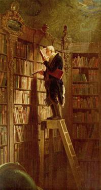 Carl Spitzweg (The bookworm) Art Poster Print