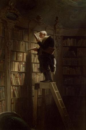 The Bookworm, c.1850 by Carl Spitzweg