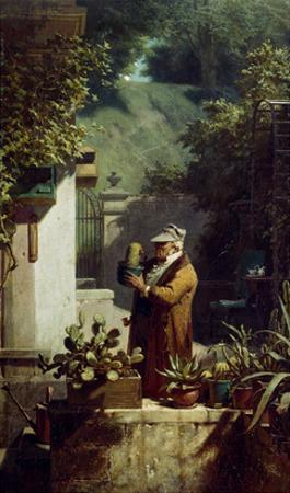 The Cactus Lover. before 1858 by Carl Spitzweg