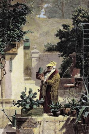 The Cactus Lover, before 1858 by Carl Spitzweg