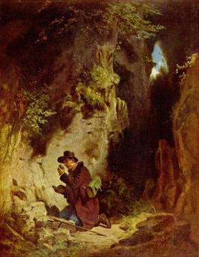 Carl Spitzweg (The geologist) Art Poster Print