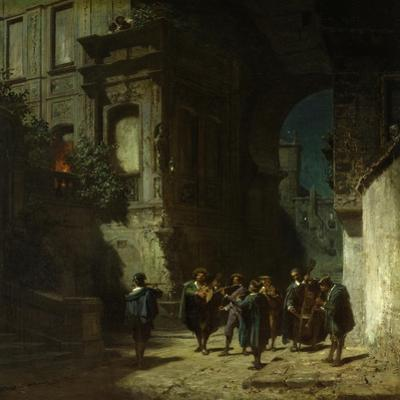 The Serenade, about 1865 by Carl Spitzweg