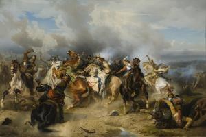Death of King Gustav II Adolf of Sweden at the Battle of Lützen, 1855 by Carl Wahlbom