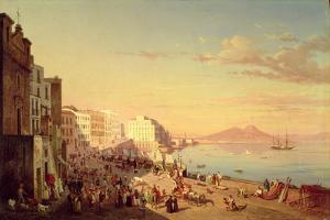 Naples, C.1830 by Carl Wilhelm Goetzloff