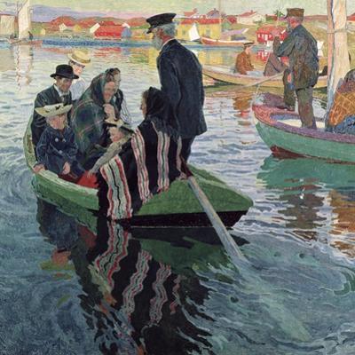 Church Goers in a Boat, 1909
