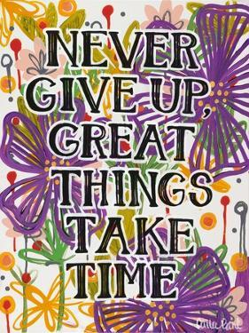 Never Give Up by Carla Bank