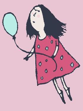 Balloon Girl Pink by Carla Martell