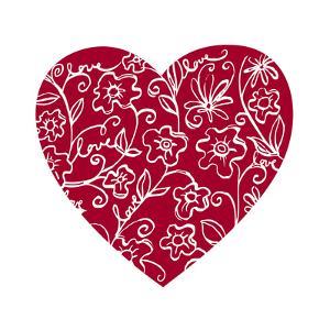 Japanese Flower Heart by Carla Martell