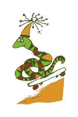 Skateboard Snake by Carla Martell