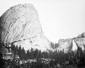 Bellows Butte and Nevada Fall, Yosemite by Carleton E Watkins