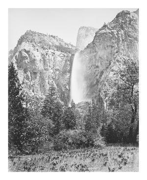 Bridal Veil, 900 ft. Yosemite by Carleton E Watkins