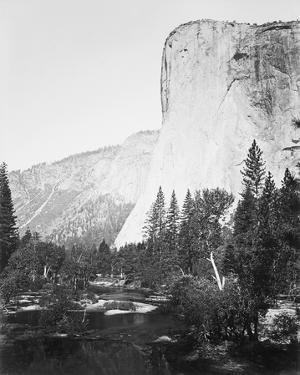 El Capitain - 3600 ft., Yosemite by Carleton E Watkins