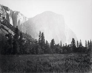 El Capitan - 3600 ft. Yosemite by Carleton E Watkins