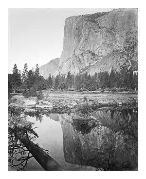 Mirror View - El Capitan, Yosemite by Carleton E Watkins