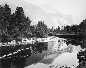 Mirror View, Yosemite, North Dome by Carleton E Watkins