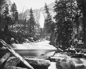 Nevada Fall, 700 ft., Yosemite by Carleton E Watkins