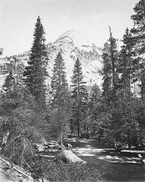 North Dome, 3730 ft., Yosemite by Carleton E Watkins