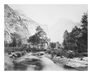 The Domes, Yosemite by Carleton E Watkins