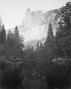 The Sentinel 3270 ft., Yosemite by Carleton E Watkins