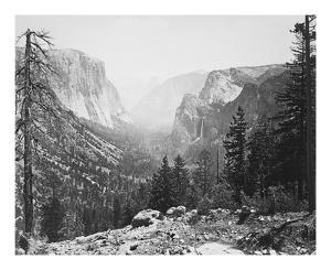The Yosemite Valley from Inspiration Point by Carleton E Watkins