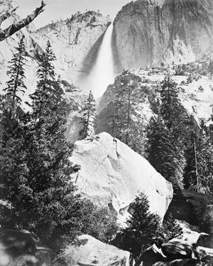 Upper Yosemite Falls, Yosemite by Carleton E Watkins