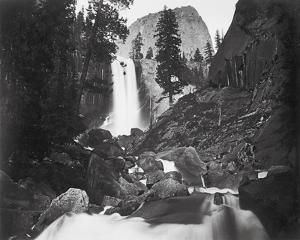 Vernal Falls, 300 ft., Yosemite by Carleton E Watkins