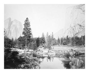 View Down the Valley, Yosemite by Carleton E Watkins
