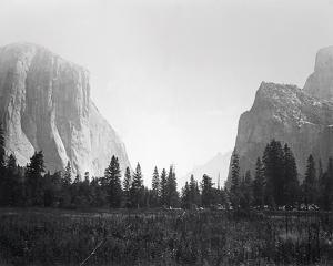View Up the Valley, Yosemite by Carleton E Watkins