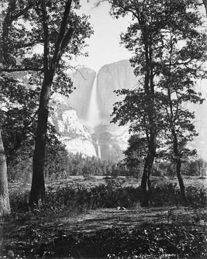 Yosemite Falls 2630 ft., Yosemite by Carleton E Watkins