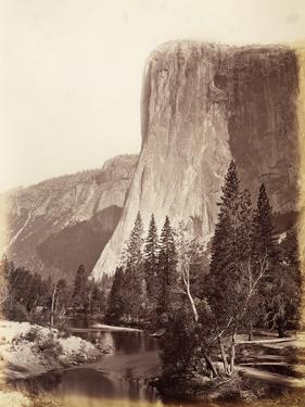 El Capitan, Yosemite National Park, Usa, 1861-75 by Carleton Emmons Watkins