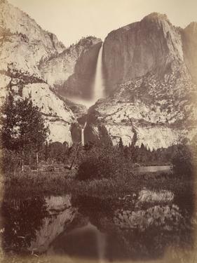Yosemite Falls, Usa, 1861-75 by Carleton Emmons Watkins