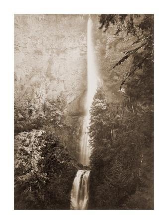 Multnomah Falls, Columbia River, Oregon, 2500 feet., 1867