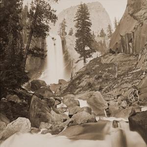 Piwayac - Vernal Fall - 300 ft. Yosemite, California, 1861 by Carleton Watkins