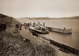 """The Ferryboat """"Solano"""", Port Costa, California, after 1879 by Carleton Watkins"""