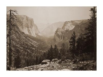 The Yosemite Valley from Inspiration Pt. Mariposa Trail, 1865-1866